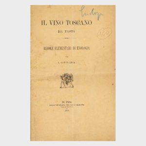Book Cover: IL VINO TOSCANO DA PASTO – REGOLE ELEMENTARI DI ENOLOGIA