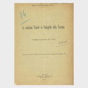 Book Cover: LE CONDIZIONI VITICOLE ED ENOLOGICHE DELLA TOSCANA ED ESPORTAZIONE DEI VINI