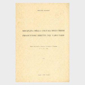 Book Cover: DISCIPLINA DEGLI IBRIDI PRODUTTORI DIRETTI NEI VARI PAESI