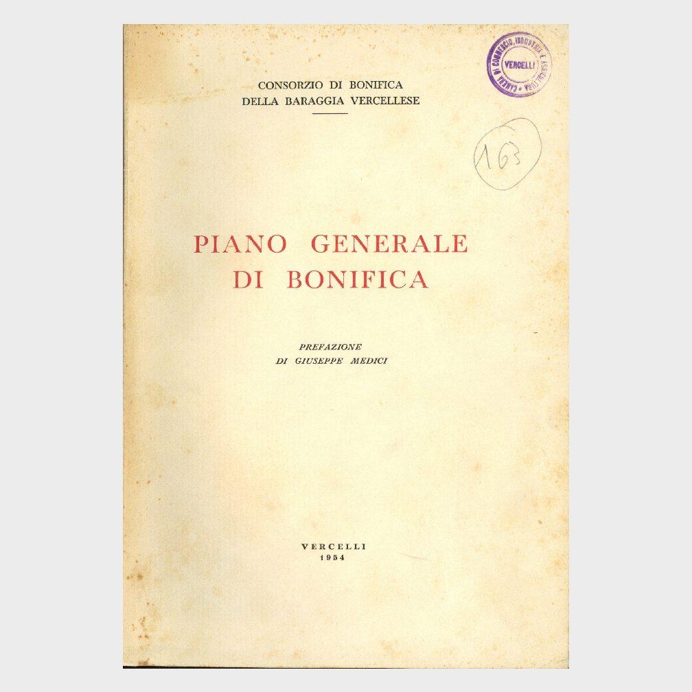 Book Cover: PIANO GENERALE DI BONIFICA