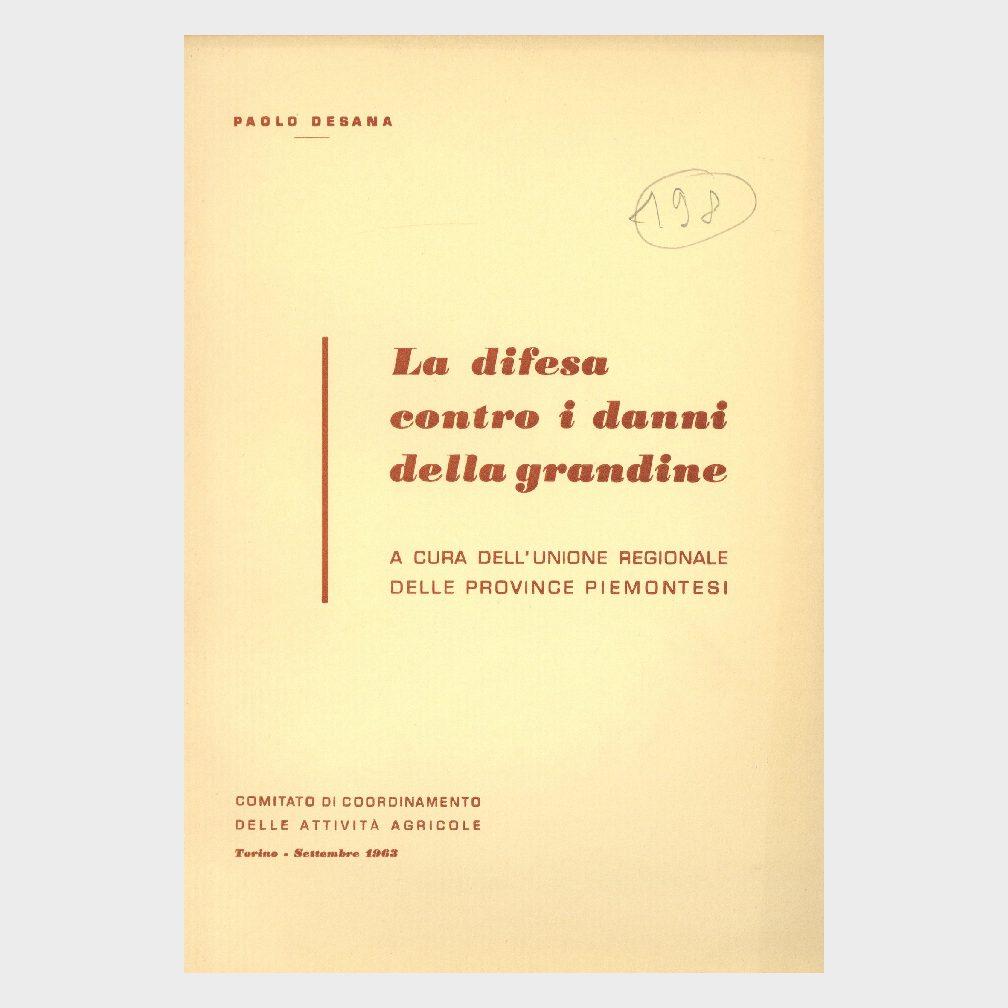 Book Cover: LA DIFESA CONTRO I DANNI DELLA GRANDINE
