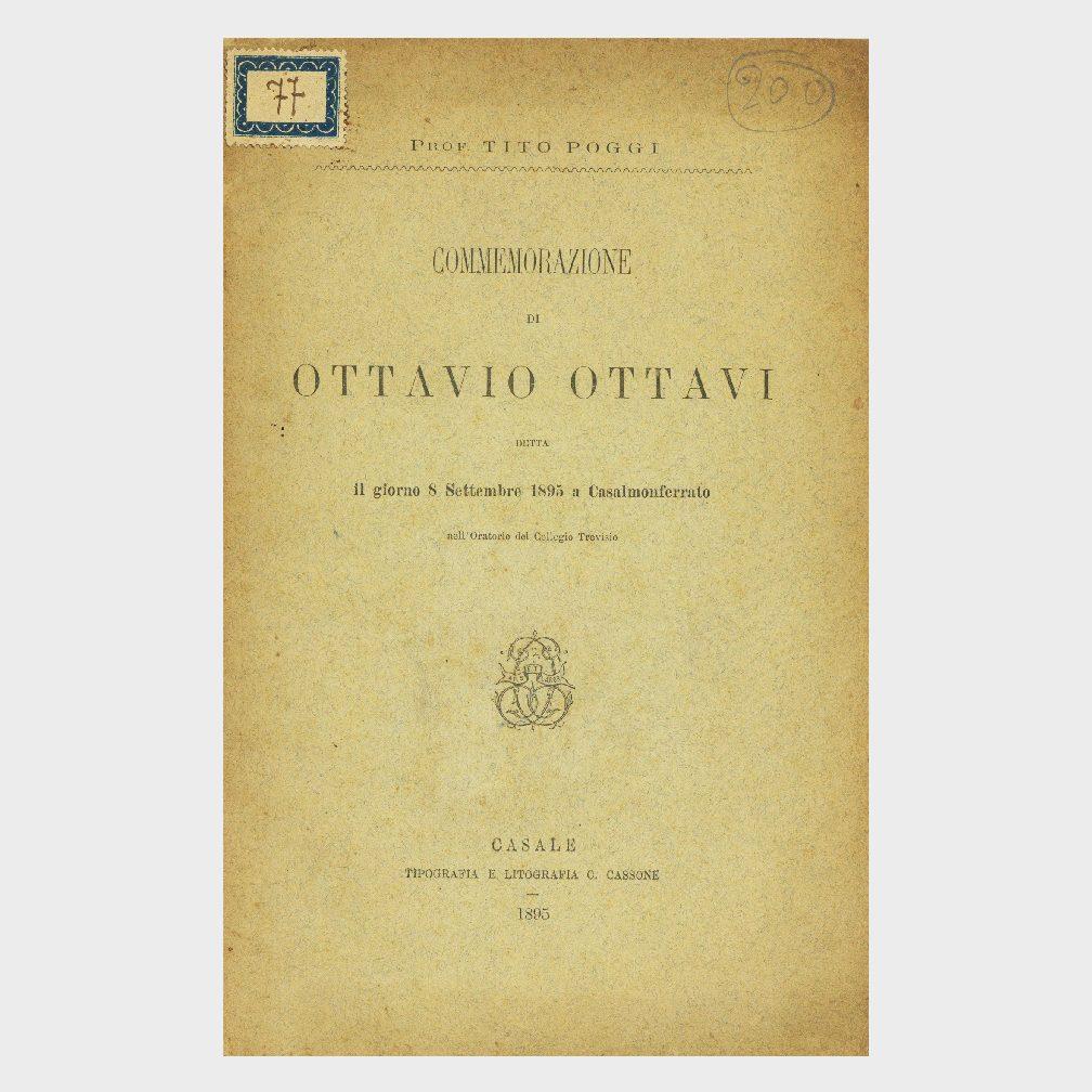 Book Cover: COMMEMORAZIONE DI OTTAVIO OTTAVI
