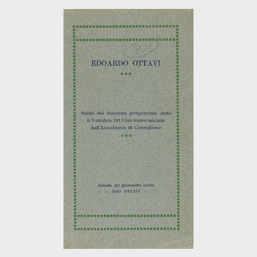 Book Cover: EDOARDO OTTAVI – DISCORSO ALL'ACCADEMIA DI CONEGLIANO VENETO