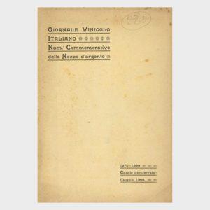 Book Cover: GIORNALE VINICOLO ITALIANO – NUMERO COMMEMORATIVO NOZZE D'ARGENTO