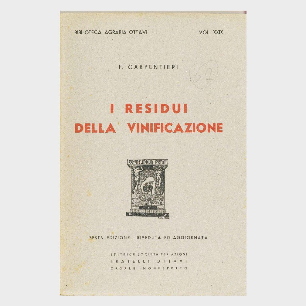 Book Cover: I RESIDUI DELLA VINIFICAZIONE