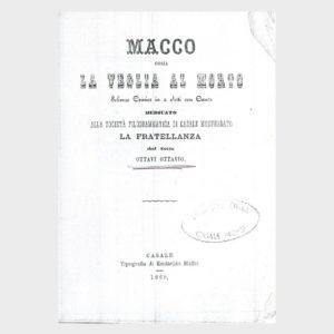 Book Cover: MACCO OSSIA LA VEGLIA DEL MORTO