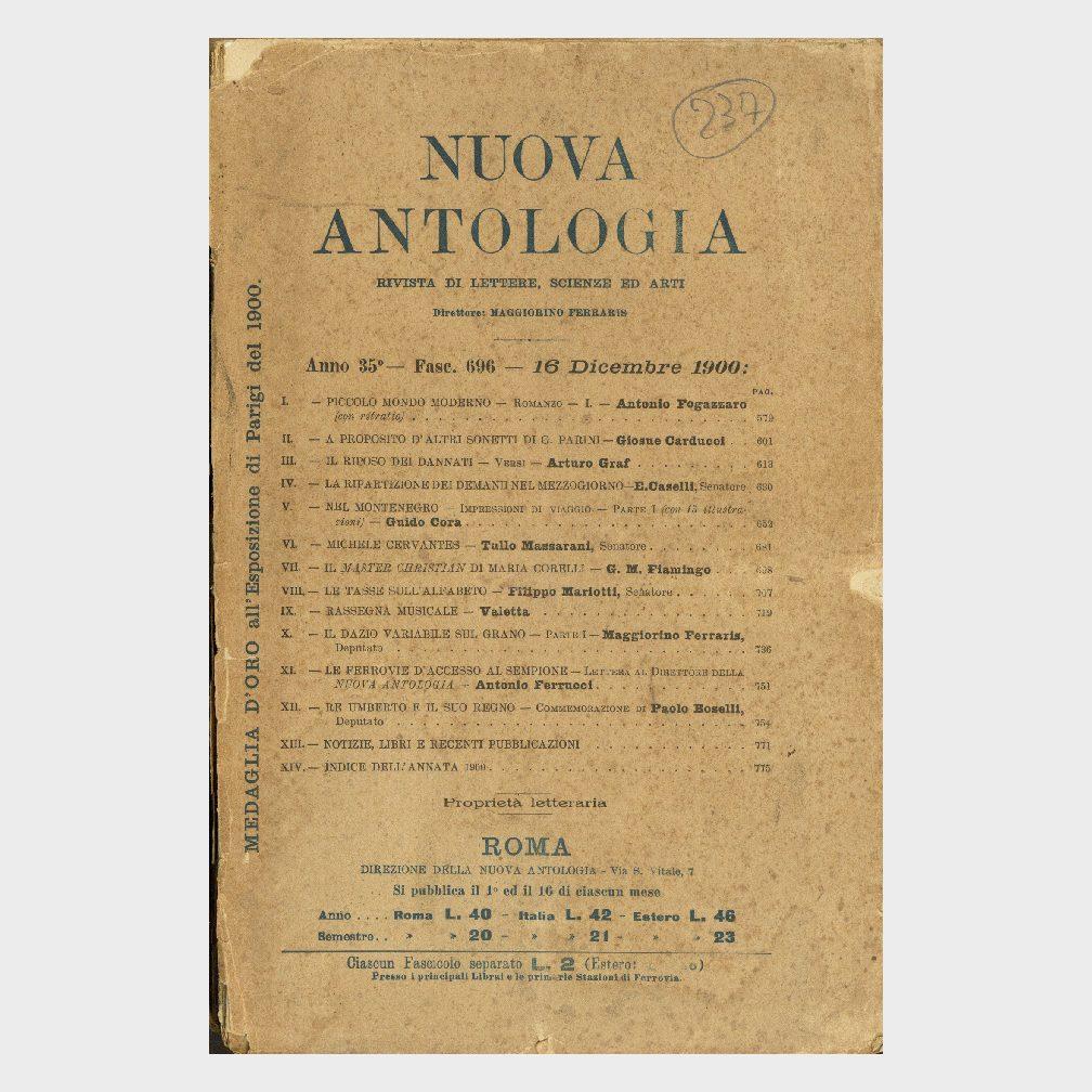 Book Cover: NUOVA ANTOLOGIA