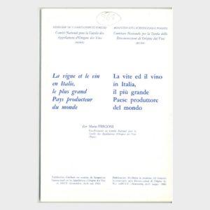 Book Cover: LA VITE ED IL VINO IN ITALIA, IL PIÙ GRANDE PAESE PRODUTTORE DEL MONDO