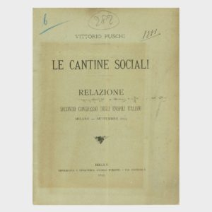 Book Cover: LE CANTINE SOCIALE (SECONDO CONGRESSO ENOFILI ITALIANI)