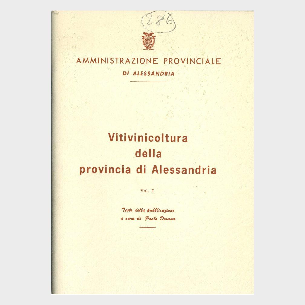 Book Cover: VITIVINICOLTURA DELLA PROVINCIA DI ALESSANDRIA