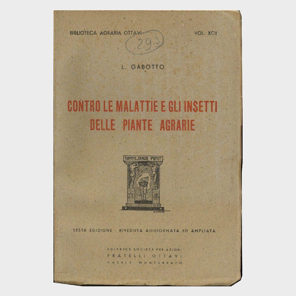Book Cover: CONTRO LE MALATTIE E GLI INSETTI DELLE PIANTE AGRARIE