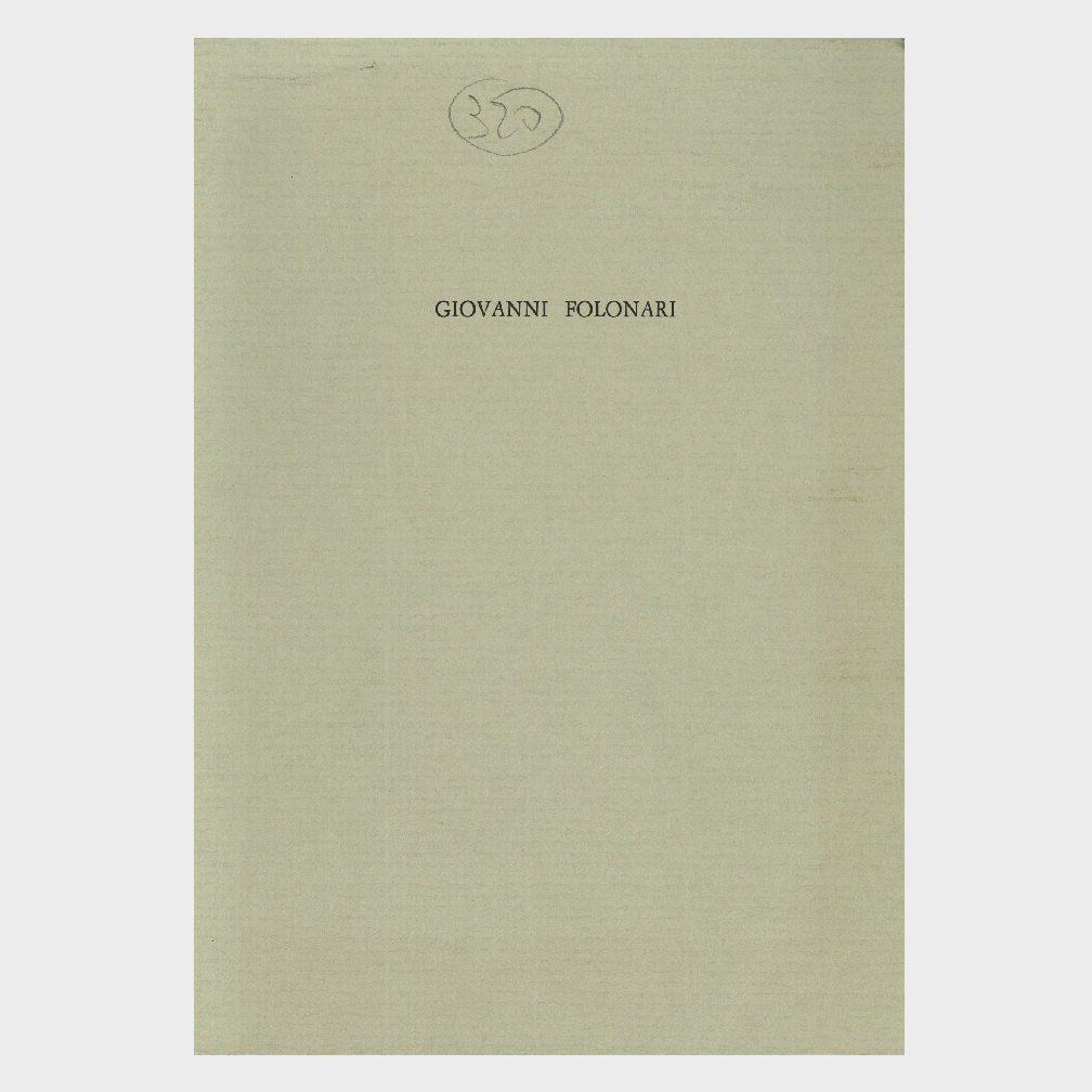 Book Cover: GIOVANNI FOLONARI