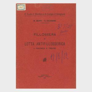 Book Cover: FILLOSSERA E LOTTA ANTIFILLOSSERICA ( PROV. DI TREVISO )