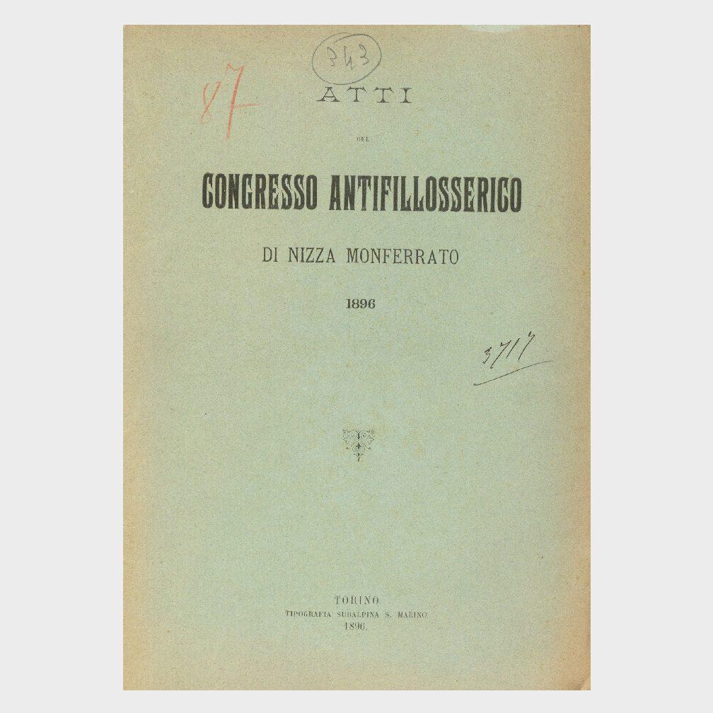 Book Cover: ATTI DEL CONVEGNO ANTIFILLOSSERICO DI NIZZA MONFERRATO